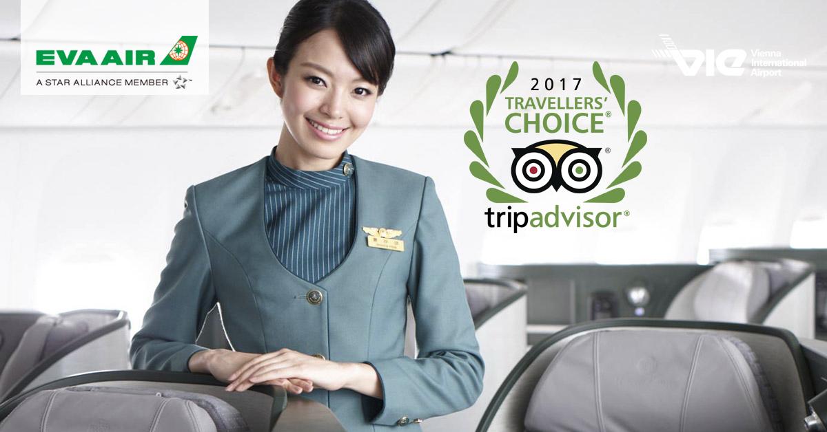 EVA Air vyhrala ocenenie Travellers' Choice na portáli TripAdvisor v novej kategórii
